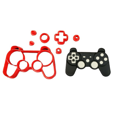 Gaming Controller Cookie Cutter and Embosser