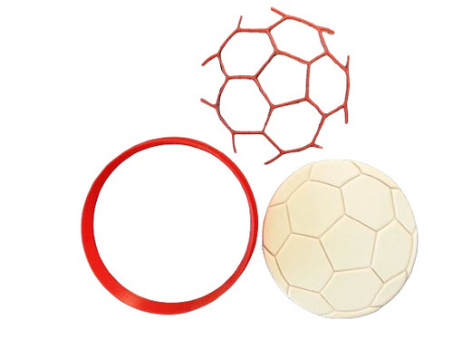 Soccer Ball Cookie Cutter and Embosser