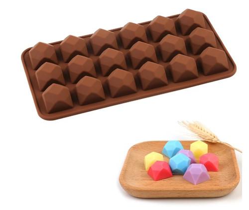 Polygonal Square 15 Cavity Chocolate Mold