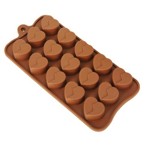 Broken Heart 15 Cavity Chocolate Mold