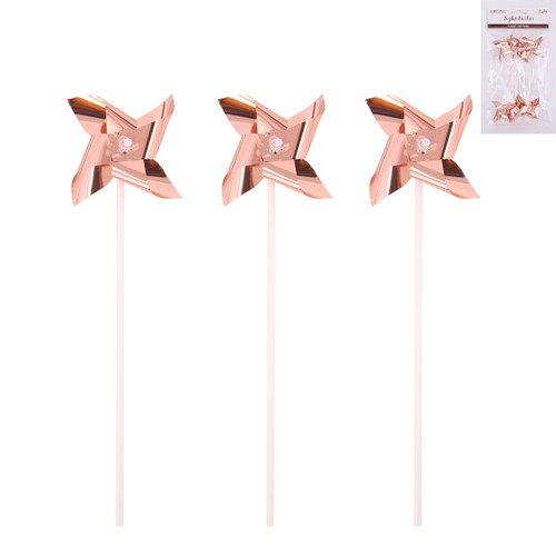 Windmill 6pc Cake Topper-Rose gold