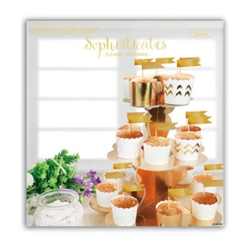 3 Tier Cupcake Stand Metallic Gold