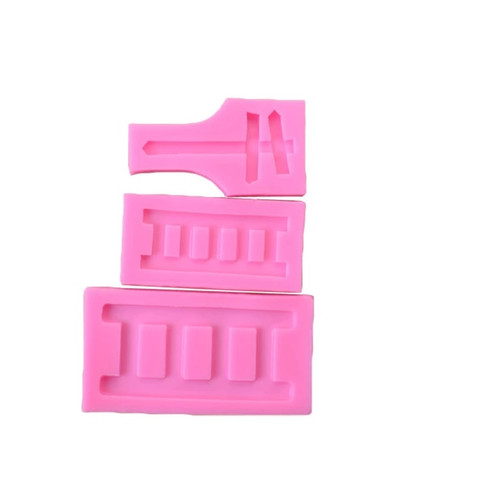 Train Track and Sign 3pc Silicone Mold