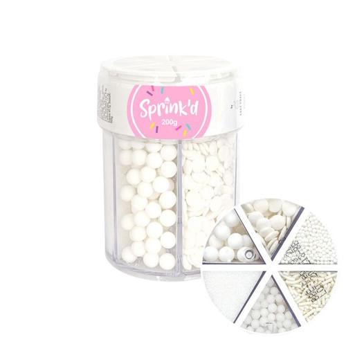 Sprinkle Mix White 6 Variety 200G
