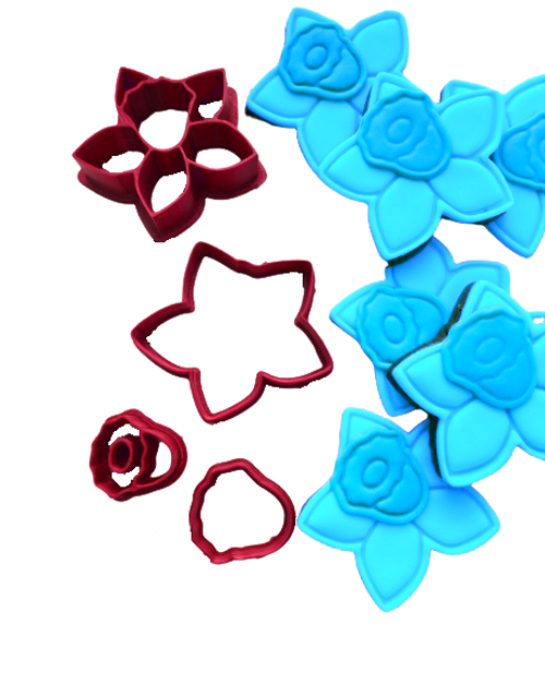Daffodil Flower Cookie Cutter and Embosser