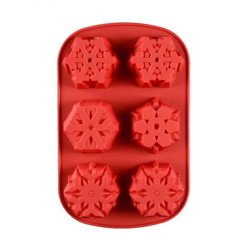 Snowflake 6 Cavity Silicone mold