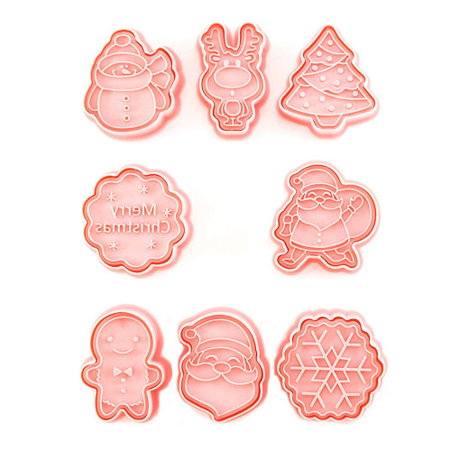 Christmas Themed Cookie Cutter Set 8pc