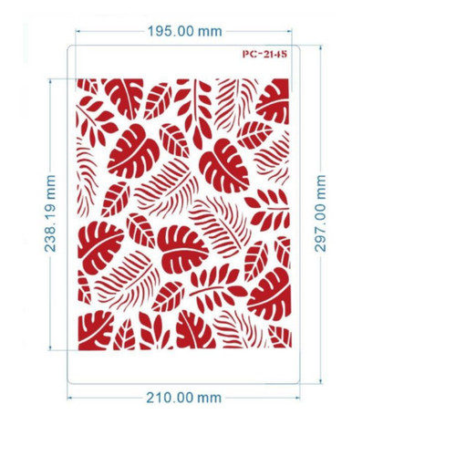 Cake Stencil - Tropical Leaves(Style 1)