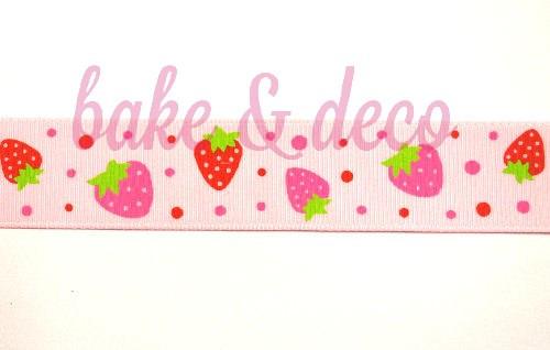 Sweet Strawberry Ribbon 15mm