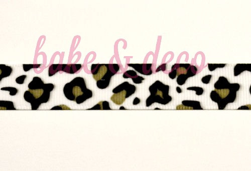 Leopard Print Ribbon 20mm