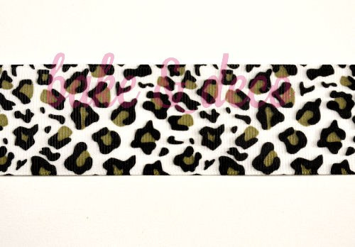 Leopard Print Ribbon 40mm