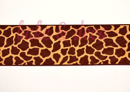 Giraffe Print Ribbon 40mm