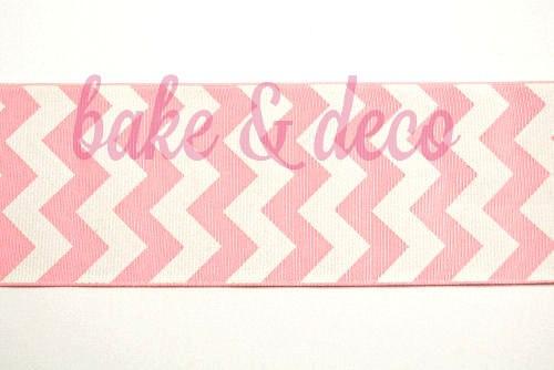 Pink Chevron Ribbon 6cm