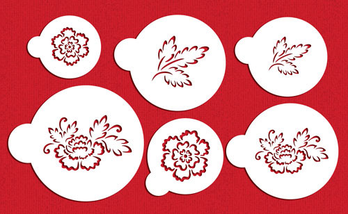 Brush Emroidery Flower Set C790 Stencil