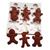 Gingerbread Men Silicone Mold