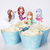 Cupcake Toppers 24pc - Mermaid Assorted