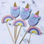 Cupcake Topper 12pc - Unicorn & Rainbows