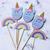 Cupcake Topper 12pc - Unicorn & Rainbows