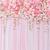 Backdrop 125x200cm Floral Pink