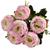 Silk Flowers Peony Ranunculus Spray - PINK