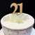 Cake Topper '21' 7cm - WOOD