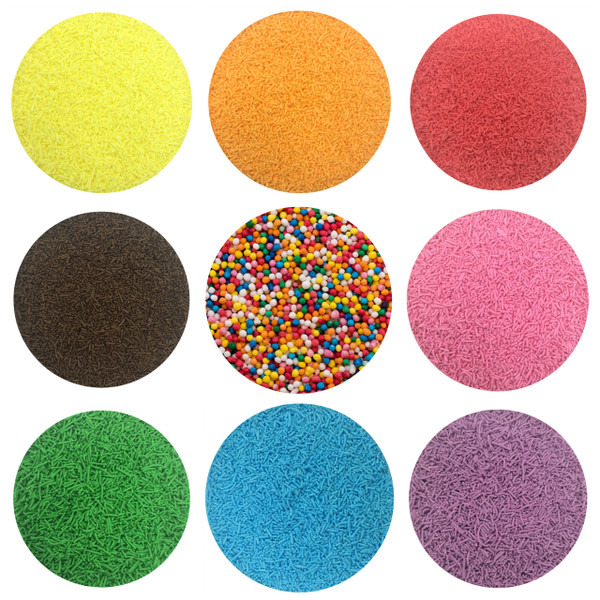 Coloured Donut Sprinkles 250g