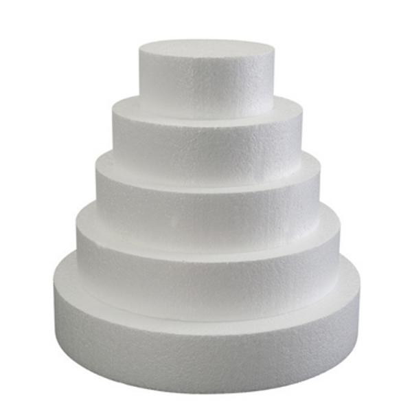 "Foam Round Dummy Cakes 3"" High 75mm"
