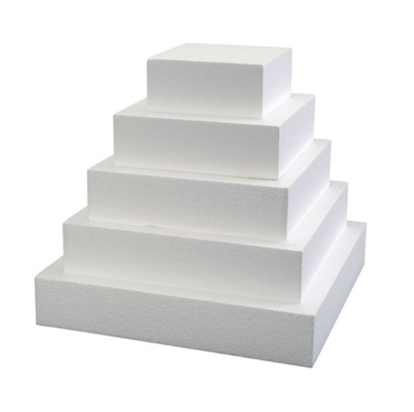 """Foam Square Dummy Cakes 3"""" High 75mm"""