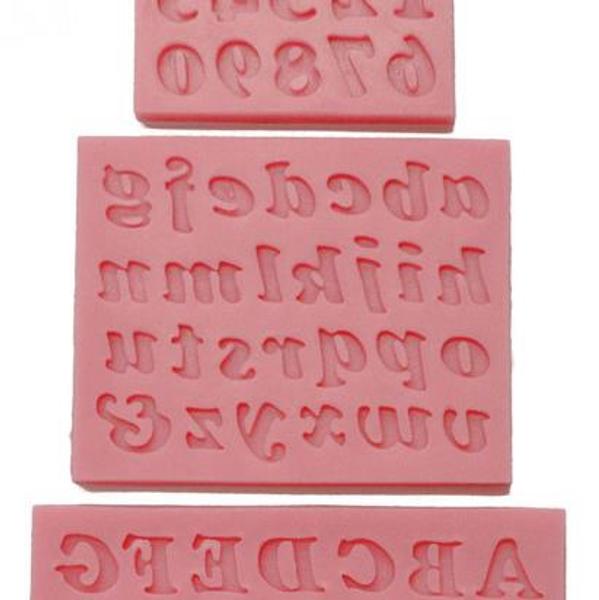 Alphabet Silicone Molds