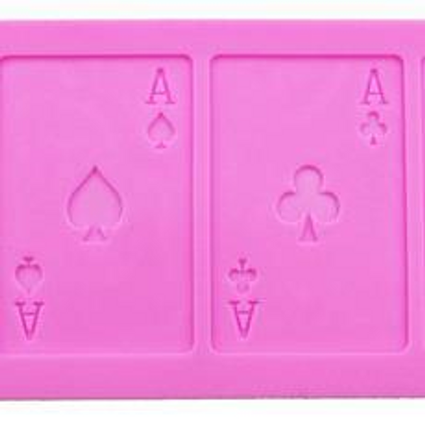 Card Suite Silicone Mould (All Aces)