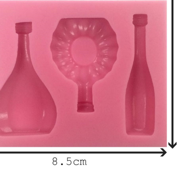 Assorted Bottles 3 pc Silicone Mold