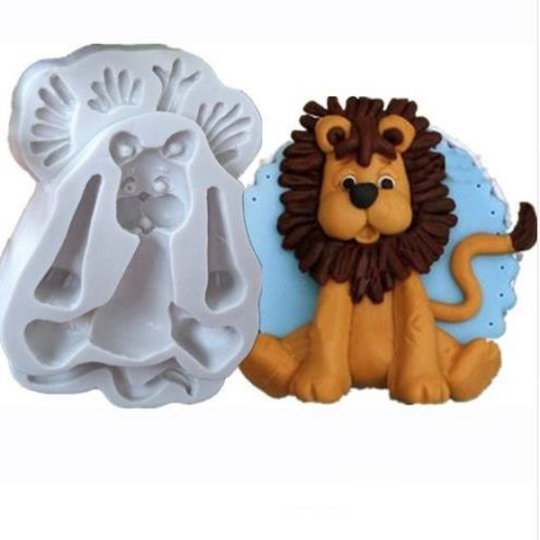 Sitting Lion - baby Silicone Mold