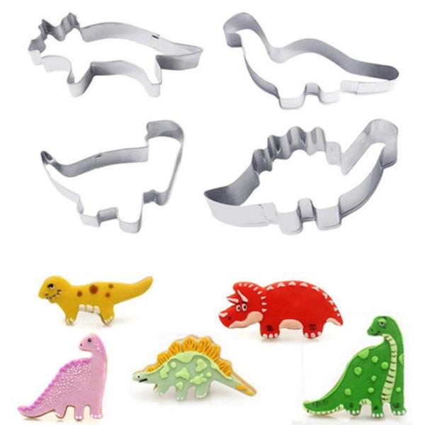 Dinosaurs 4pc Tin Plate Cutter