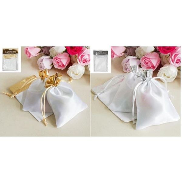Shmick Sophisticates White/Metallic Bags
