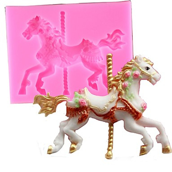 Detailed Carousel Horse Silicone Mould