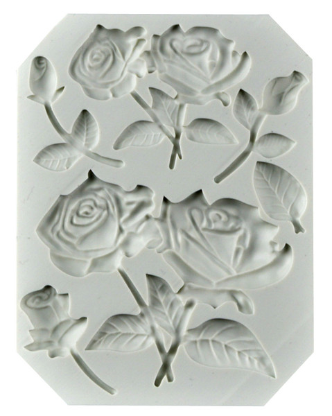 Roses On Stems Silicone Mold
