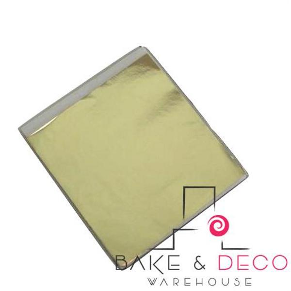 Edible 22K Champagne Gold Leaf Loose Sheet (9cm x 9cm) 5pk