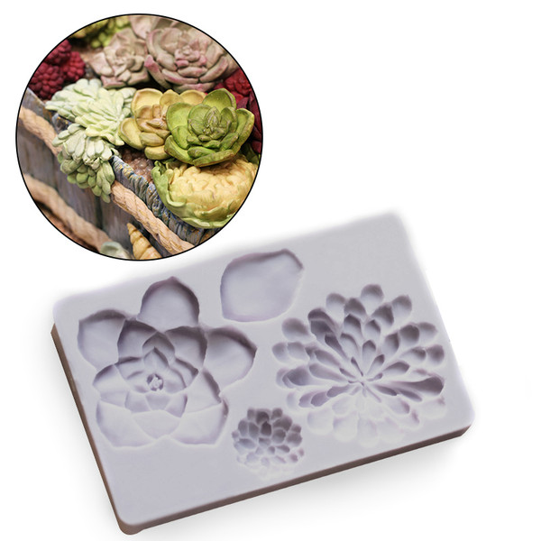 Succulent Flowers Silicone Mold