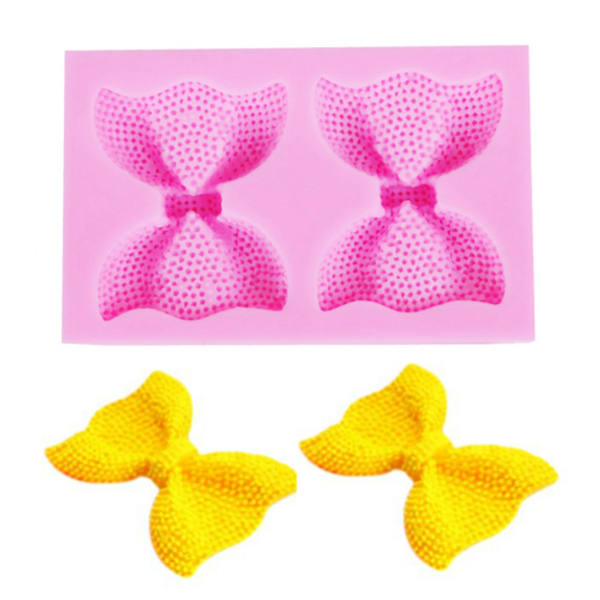 Bows with Pearls 2pc Silicone Mould