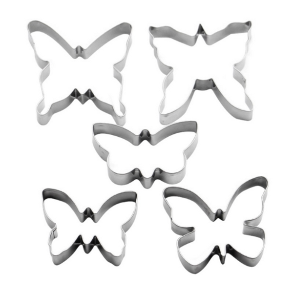 Butterflies 5pc Tin Plate Cutter Set
