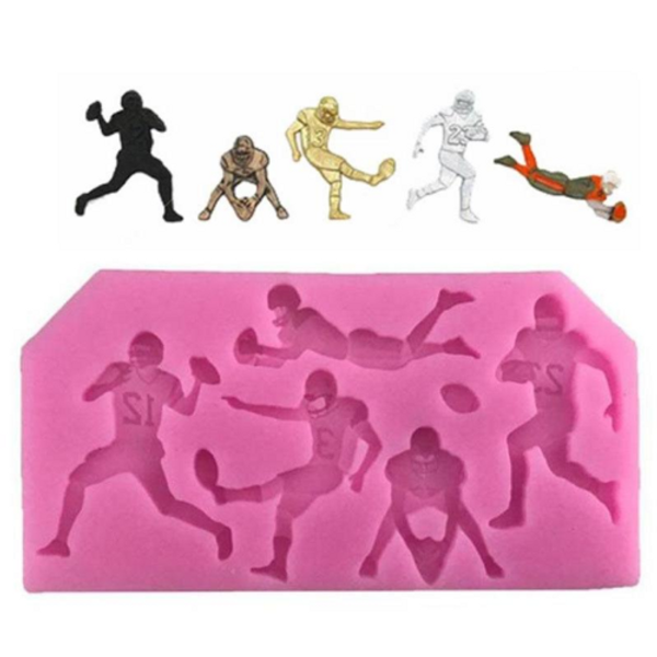 Football Players Silicone Mould