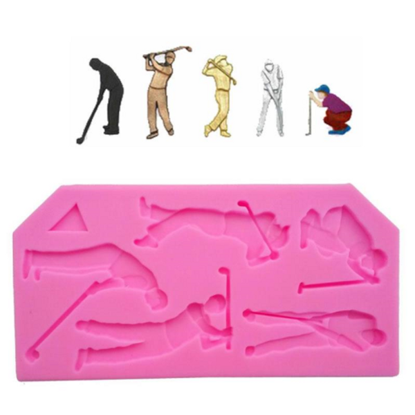 Golf Players Silicone Mold