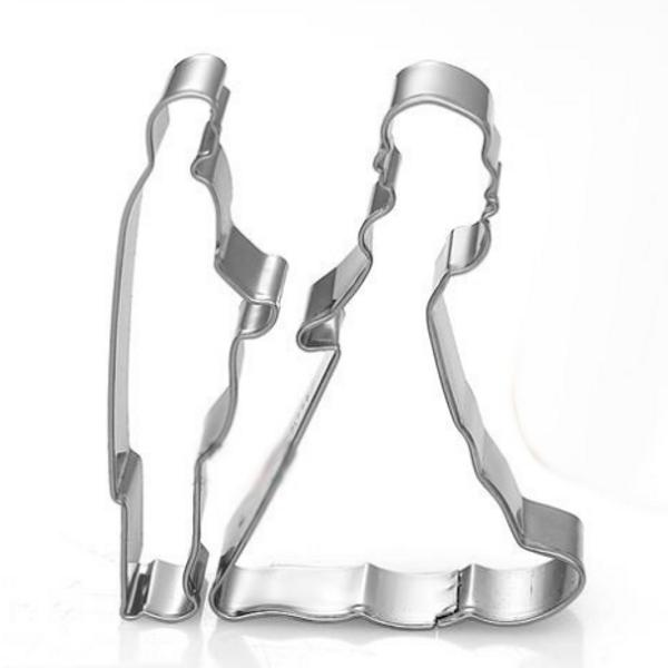 Bride & Groom 2pc Tin Plate Cutter Set