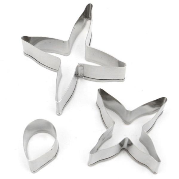 Fuchsia 3pc Tin Plate Cutter Set