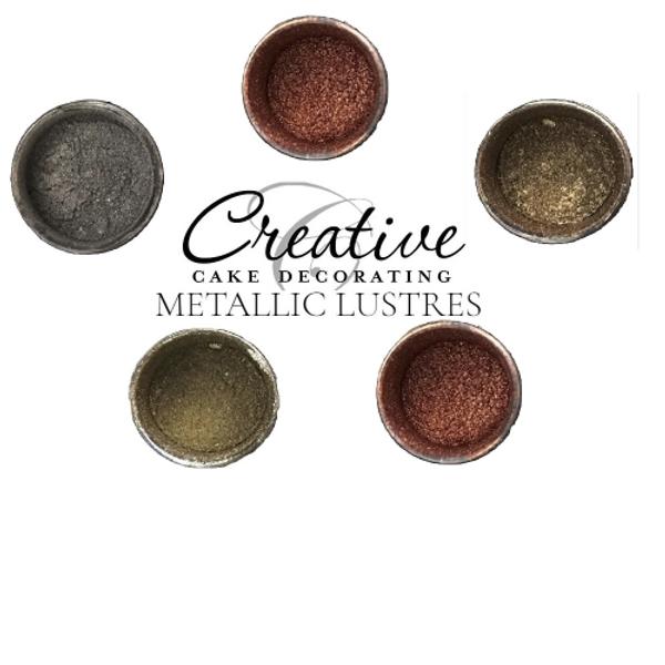 Creative cake decorating metallic lustre dust