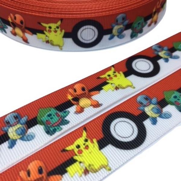 Pokemon Novelty Printed Ribbon