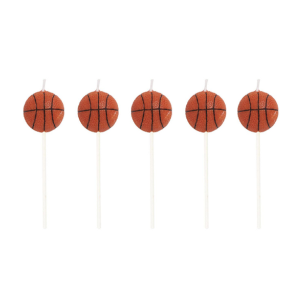 Basketball 5pc Candles