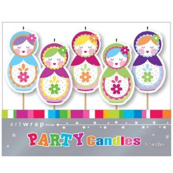 Babushka Dolls 5pc Candles