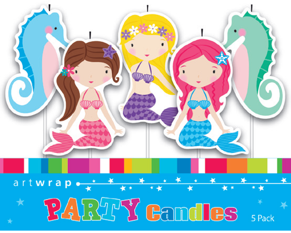 Mermaids & Seahorses 5pc Candle Set