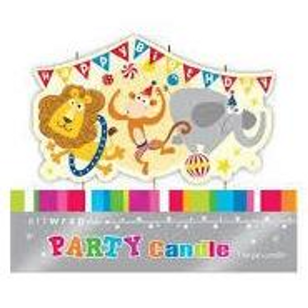 Circus Animals Party Candle